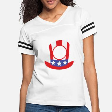 4th of july hat monogram - Women's Vintage Sport T-Shirt