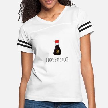 I Love Heart Soy Sauce Ladies T-Shirt