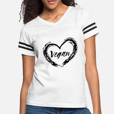 Heart Healthy Vegan heart healthy eating quote gift - Women's Vintage Sport T-Shirt