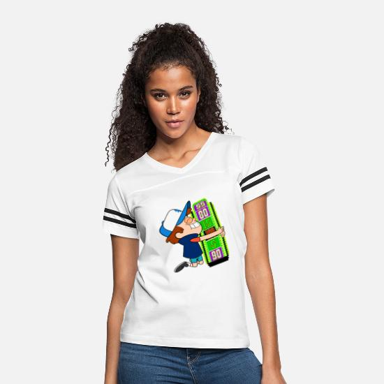 Price T-Shirts - TV Game Show Contestant - TPIR (The Price Is...) - Women's Vintage Sport T-Shirt white/black