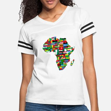Africa Africa Map Countries - Women's Vintage Sport T-Shirt