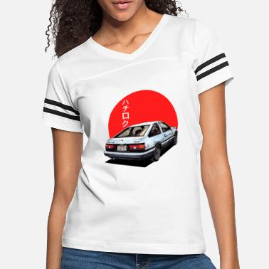 Initial AE86 Initial d Trueno Japan Movie - Women's Vintage Sport T-Shirt