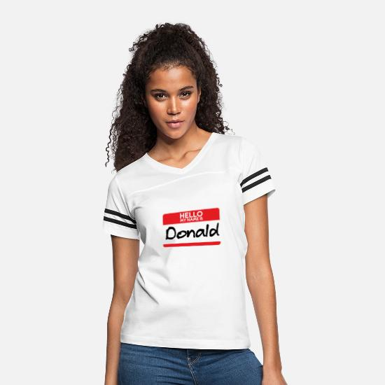 Funny T-Shirts - Donald Trump Halloween Costume Dotard anti trump - Women's Vintage Sport T-Shirt white/black