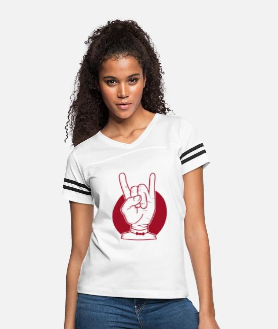 Rock T-Shirts - RAWK - Women's Vintage Sport T-Shirt white/black