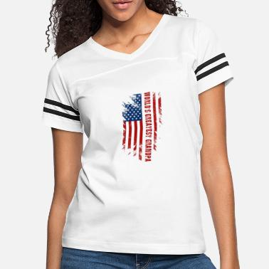 World's Greatest Grandpa American Flag Men Father' - Women's Vintage Sport T-Shirt