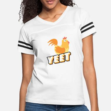 Farmer Yeet Chicken Gift Chicken Gifts for Chicken Lovers - Women's Vintage Sport T-Shirt