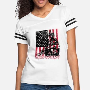 Stand United we Stand American Flag Patriot - Women's Vintage Sport T-Shirt