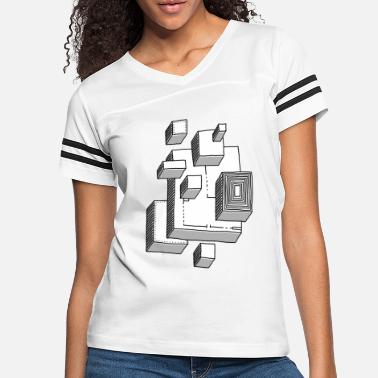 Abstract cubes - Women's Vintage Sport T-Shirt