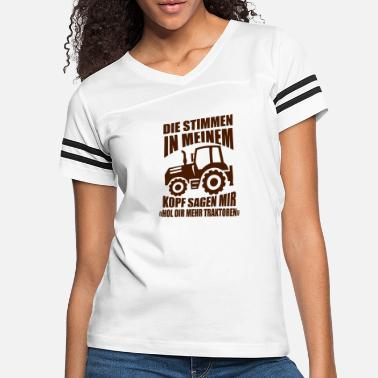 Farmer Tractors farmer gift saying - Women's Vintage Sport T-Shirt