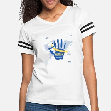 World Trade Centre world down syndrome day design T-SHIRT - Women's Vintage Sport T-Shirt