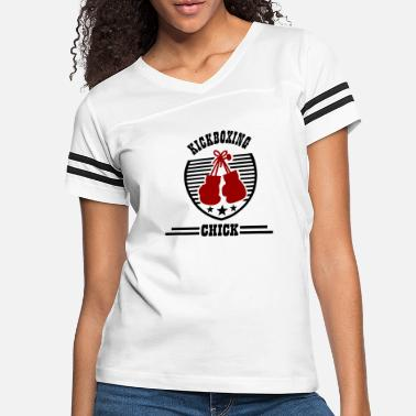 Chick KICKBOXING CHICK1.png - Women's Vintage Sport T-Shirt