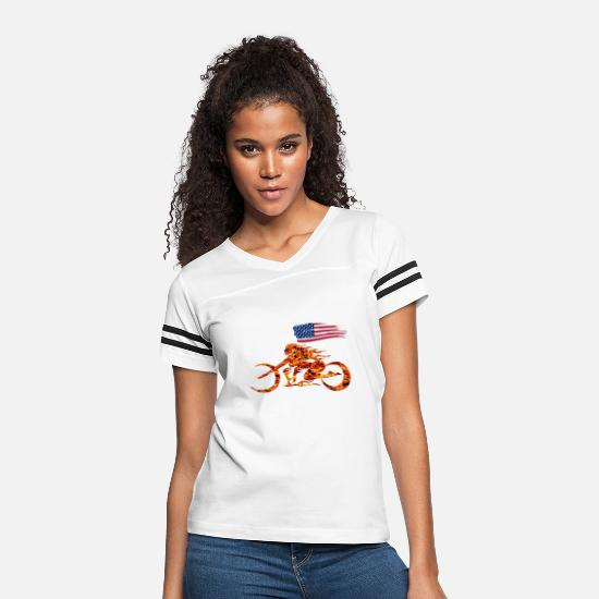 Biker T-Shirts - Born to Ride - Women's Vintage Sport T-Shirt white/black