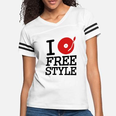 Disc I dj / play / listen to freestyle - Women's Vintage Sport T-Shirt