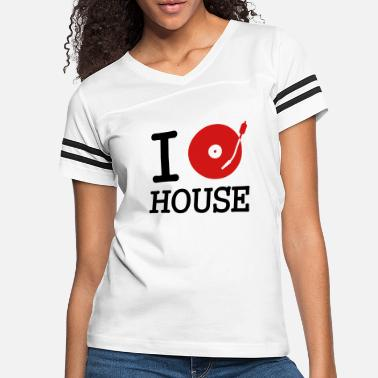 Disc I dj / play / listen to house - Women's Vintage Sport T-Shirt
