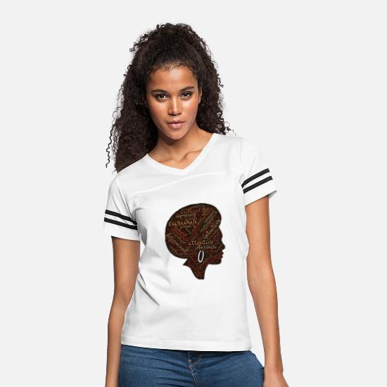 Lovely T-Shirts - afro woman - Women's Vintage Sport T-Shirt white/black