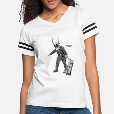 Shark Vintage Salvage Diver with Diving Helmet - Women's Vintage Sport T-Shirt