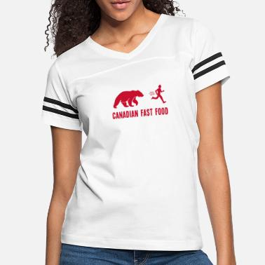 Food Canadian Fast Food Funny T shirt - Women's Vintage Sport T-Shirt