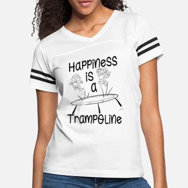 Jumpstyle Happiness Is A Trampoline - Jumping Jump Bounce - Women's Vintage Sport T-Shirt