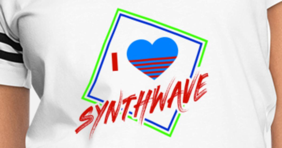 80s Synthwave Geometric I Love Synthwave Gift Women's Vintage Sport T-Shirt  | Spreadshirt