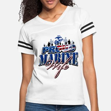 Marine Wife Proud Marine Wife - Women's Vintage Sport T-Shirt