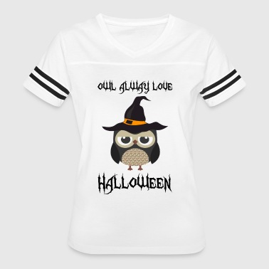 OWL LOVE HALLOWEEN - Women's Vintage Sport T-Shirt