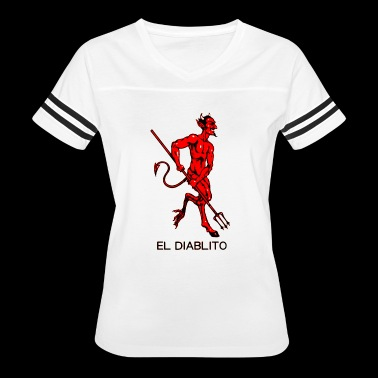 El Diablito The Devil Tarot Cards Readings - Women's Vintage Sport T-Shirt