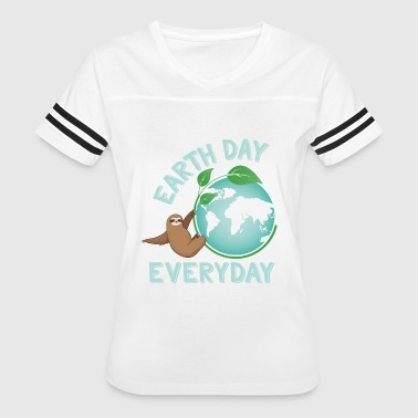 Earth Day Everyday Sloth Green Planet Every Day Earth Day - Women's Vintage Sport T-Shirt