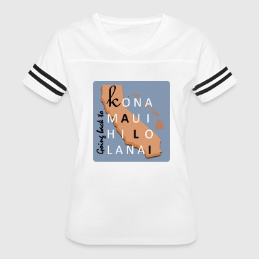 Going Back to Kali in peach - Women's Vintage Sport T-Shirt