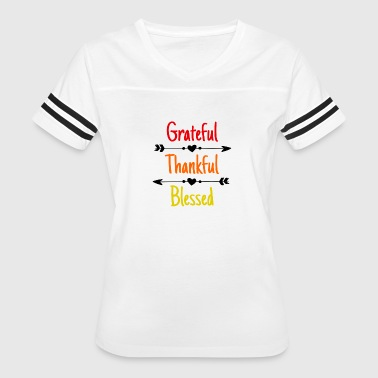 Grateful Thankful Blessed - Women's Vintage Sport T-Shirt