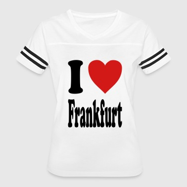 I love Frankfurt (variable colors!) - Women's Vintage Sport T-Shirt