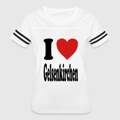 I love Gelsenkirchen (variable colors!) - Women's Vintage Sport T-Shirt