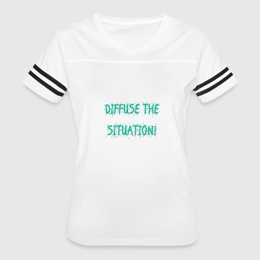 DIFFUSE TEAL - Women's Vintage Sport T-Shirt