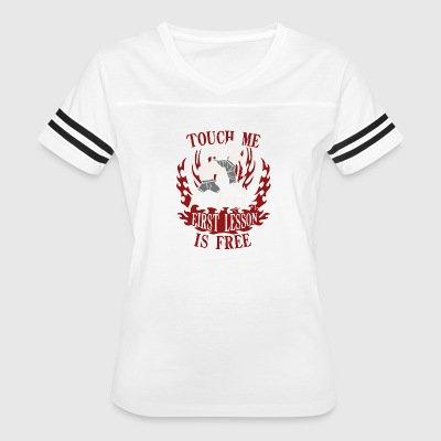 Touch Me And Your First Lesson - Women's Vintage Sport T-Shirt
