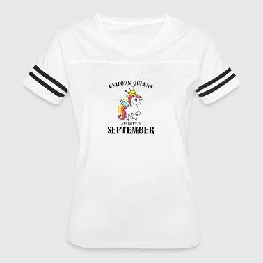 UNICORN QUEENS BORN IN SEPTEMBER - Women's Vintage Sport T-Shirt