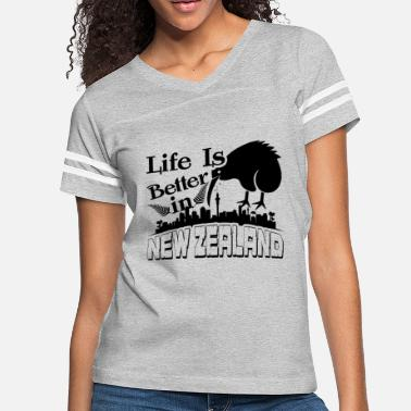 New Zealand Life Is Better In New Zealand Shirt - Women's Vintage Sport T-Shirt