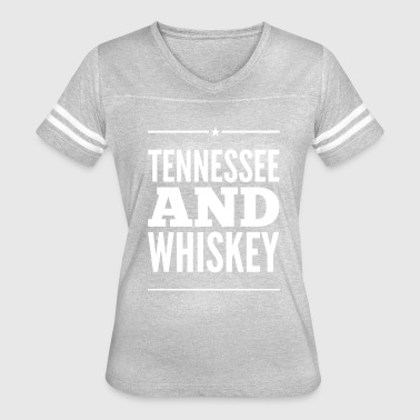 Tennessee Whiskey Tennessee and Whiskey - Women's Vintage Sport T-Shirt