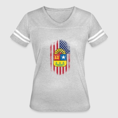 Quintana Roo State American Flag - Women's Vintage Sport T-Shirt