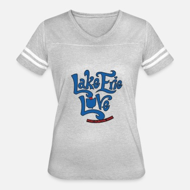 Erie Lake Erie Love Rock the Lake Ohio Lake Lovers - Women's Vintage Sport T-Shirt