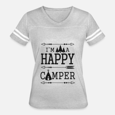 Camp Sayings I'm A Happy Camper - Women's Vintage Sport T-Shirt