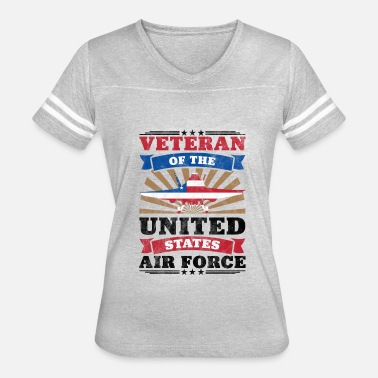 United States Armed Forces Veteran Of The United States Air Force Merch - Women's Vintage Sport T-Shirt