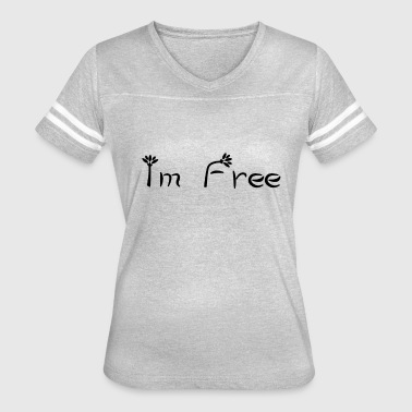 Im Free - Feel free Flower - Women's Vintage Sport T-Shirt