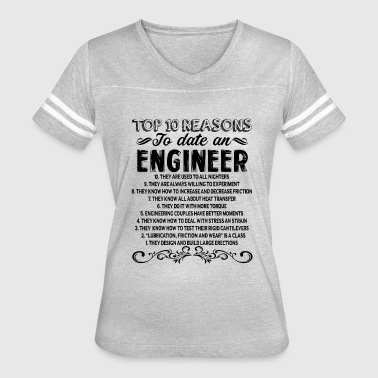 Reasons To Date Engineer Shirt - Women's Vintage Sport T-Shirt