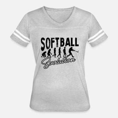 Evolution Of A Softball Softball Evolution Shirt - Women's Vintage Sport T-Shirt