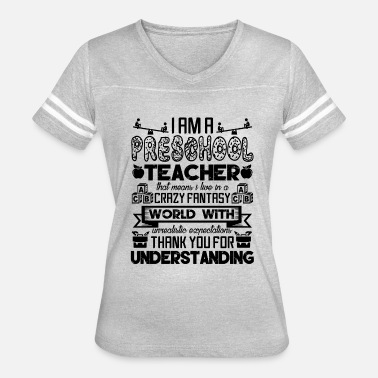 Preschool Teacher Assistant I Am A Preschool Teacher Shirt - Women's Vintage Sport T-Shirt