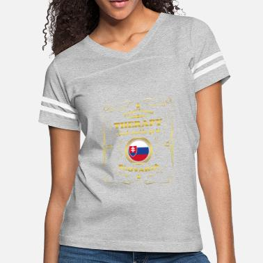 Slovak DON T NEED THERAPIE GO TO SLOVAKIA - Women's Vintage Sport T-Shirt
