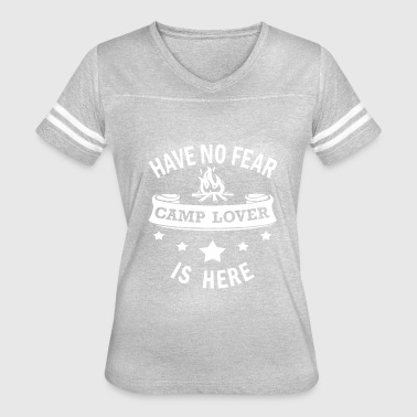 Camping Birthday Camp Lover Funny Birthday Gift - No Fear Camping - Women's Vintage Sport T-Shirt
