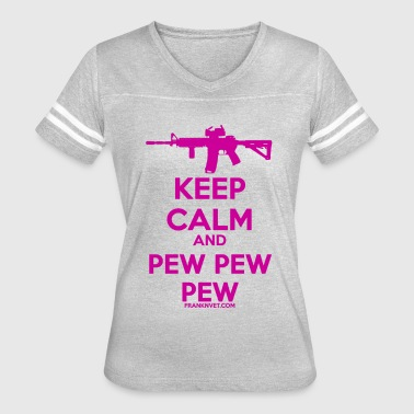2a Keep Calm Pew Pink - Women's Vintage Sport T-Shirt