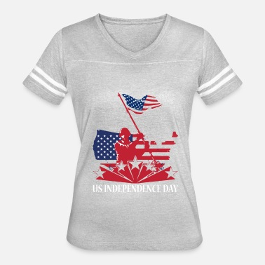 Independence US Independence Day T Shirt - Women's Vintage Sport T-Shirt