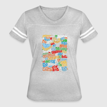 Lennon Imagine Quote - Women's Vintage Sport T-Shirt