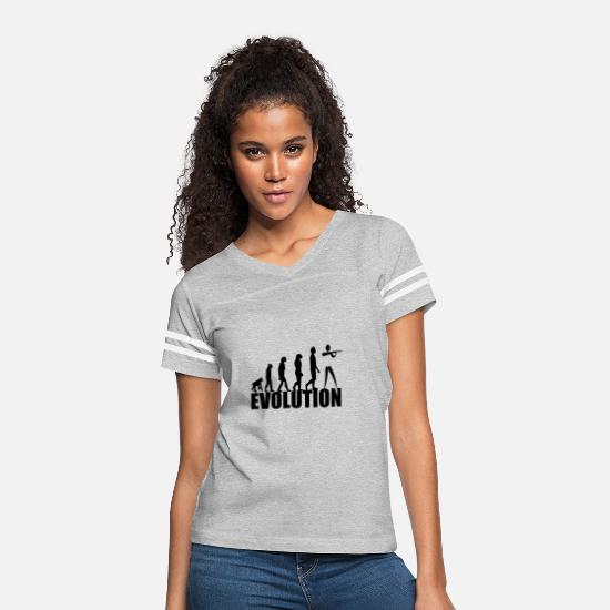Shooting T-Shirts - evolution - Women's Vintage Sport T-Shirt heather gray/white